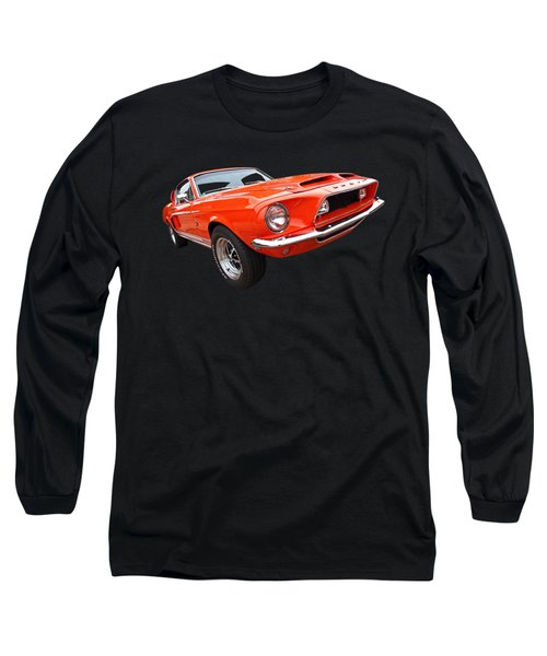 Shelby Gt500kr 1968 Long Sleeve T-Shirt by Gill Billington