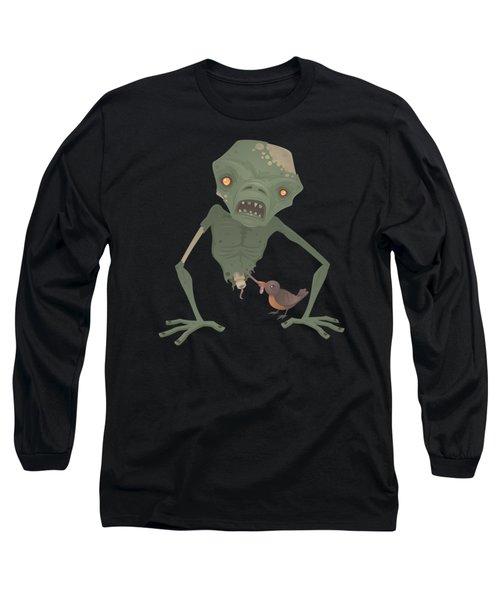 Sickly Zombie Long Sleeve T-Shirt by John Schwegel