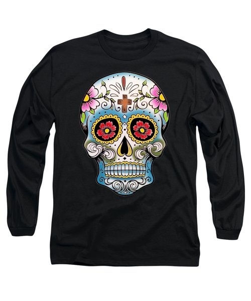 Skull 10 Long Sleeve T-Shirt by Mark Ashkenazi