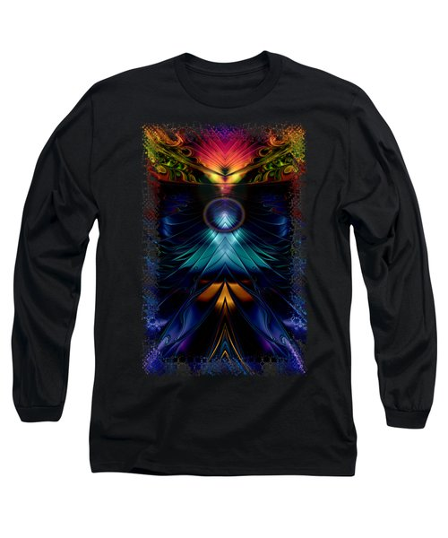 Stargatez Symmetrical Abstract Long Sleeve T-Shirt by Sharon and Renee Lozen