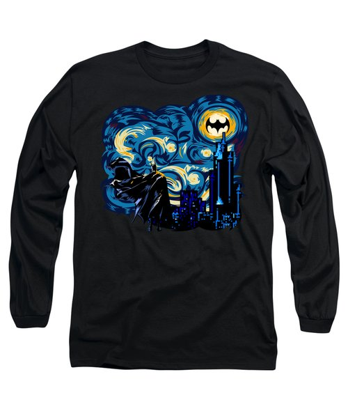 Starry Knight Long Sleeve T-Shirt by Three Second