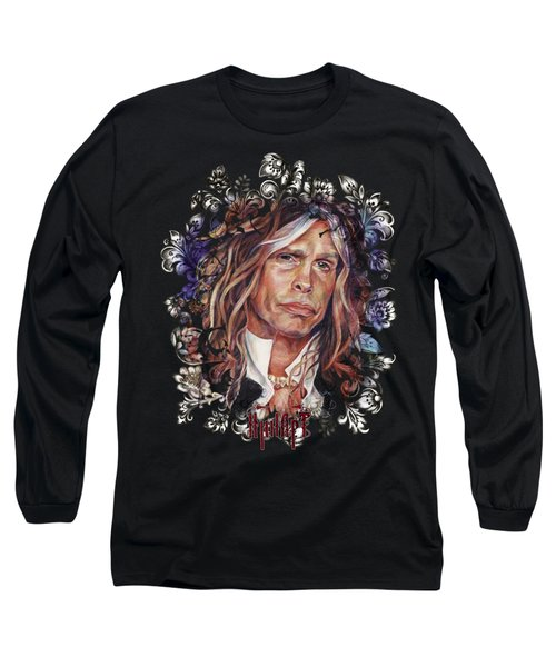 Steven Tyler Aerosmith Long Sleeve T-Shirt by Inna Volvak