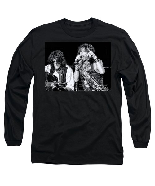 Steven Tyler Croons Long Sleeve T-Shirt by Traci Cottingham