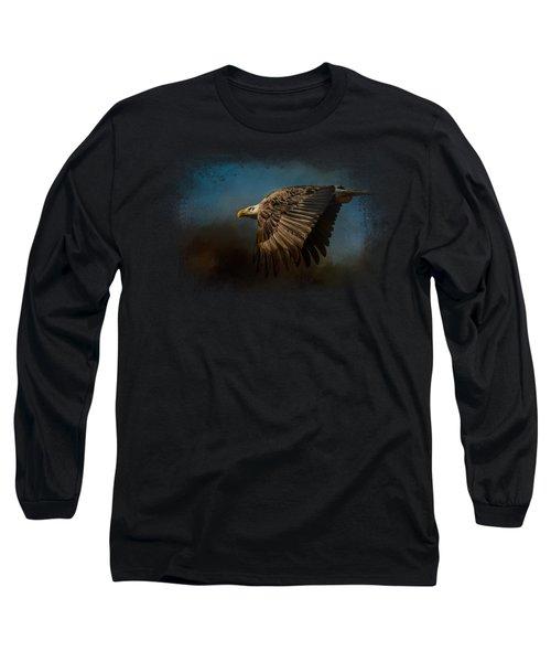 Storm Chaser - Bald Eagle Long Sleeve T-Shirt by Jai Johnson