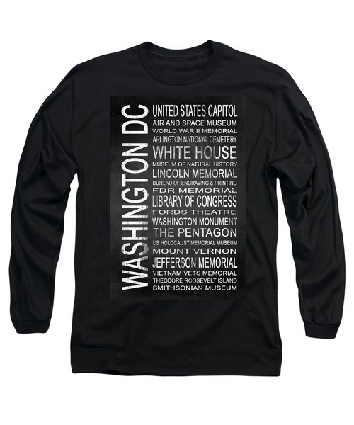 Subway Washington Dc 2 Long Sleeve T-Shirt by Melissa Smith