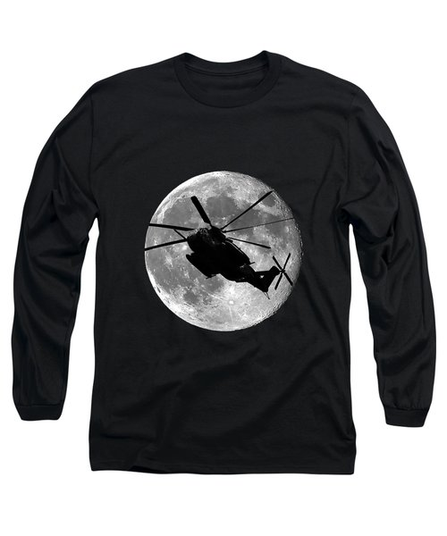 Super Stallion Silhouette .png Long Sleeve T-Shirt by Al Powell Photography USA