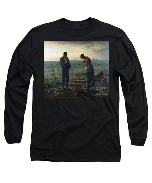 The Angelus Long Sleeve T-Shirt by Jean-Francois Millet