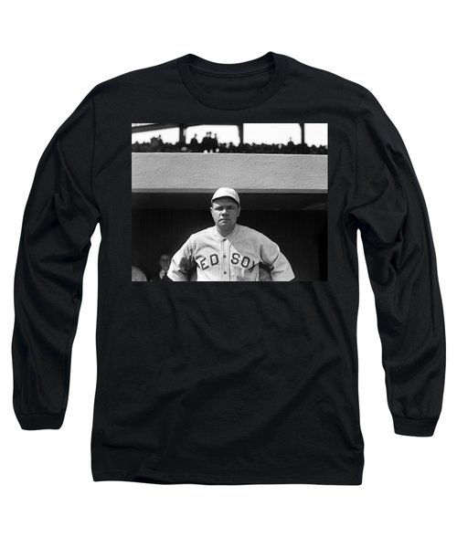 The Babe - Red Sox Long Sleeve T-Shirt by International  Images