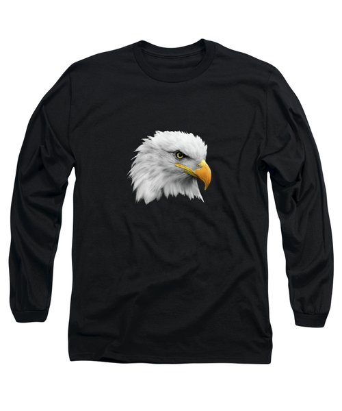 The Bald Eagle Long Sleeve T-Shirt by Mark Rogan