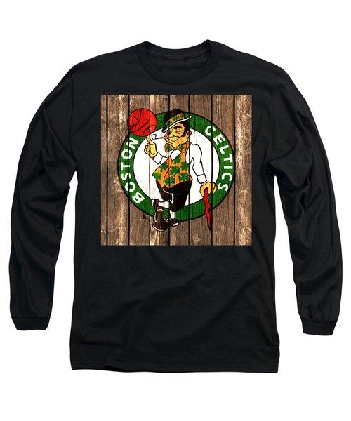 The Boston Celtics 2a Long Sleeve T-Shirt by Brian Reaves