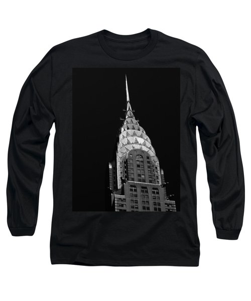 The Chrysler Building Long Sleeve T-Shirt by Vivienne Gucwa