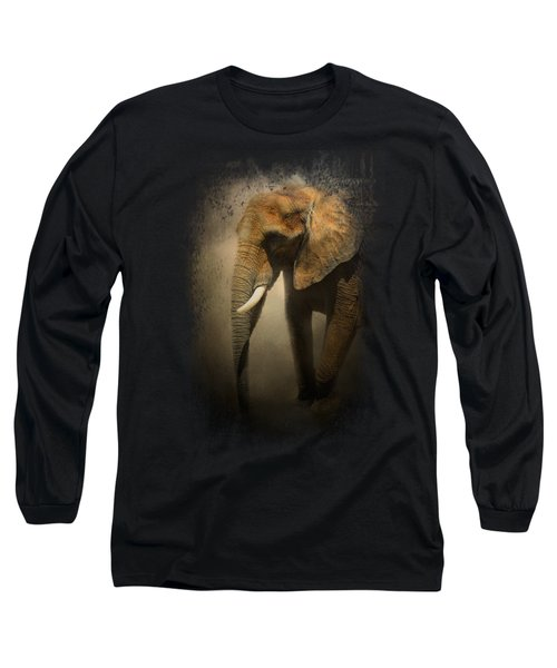 The Elephant Emerges Long Sleeve T-Shirt by Jai Johnson