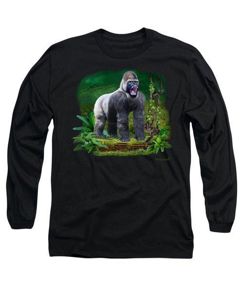 The Guardian Of The Rain Forest Long Sleeve T-Shirt by Glenn Holbrook