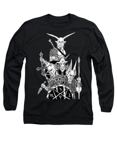 The Infernal Army Black Version Long Sleeve T-Shirt by Alaric Barca