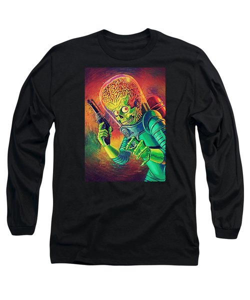 The Martian - Mars Attacks Long Sleeve T-Shirt by Taylan Soyturk