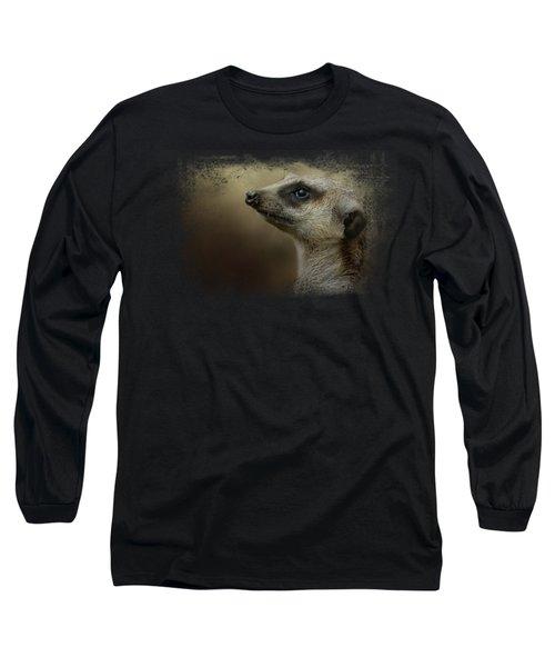 The Meerkat Long Sleeve T-Shirt by Jai Johnson
