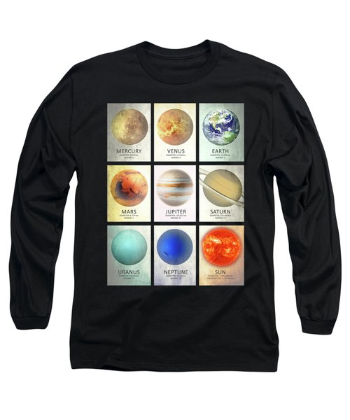 The Planets Long Sleeve T-Shirt by Mark Rogan