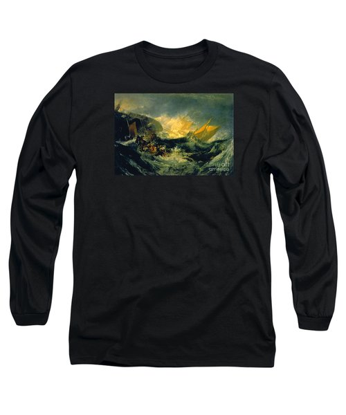 The Shipwreck Of The Minotaur Long Sleeve T-Shirt by JMW Turner