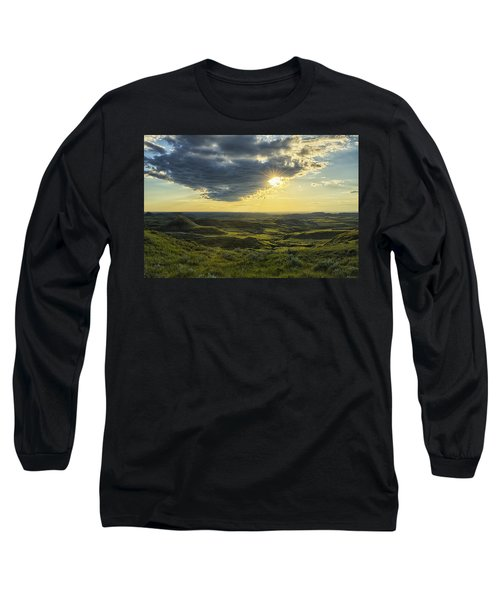 The Sun Shines Through A Cloud Long Sleeve T-Shirt by Robert Postma