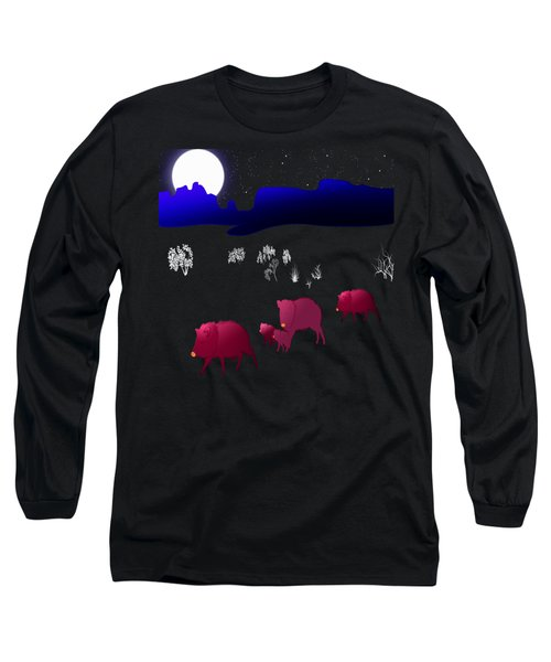 They Walk By Night Long Sleeve T-Shirt by Methune Hively