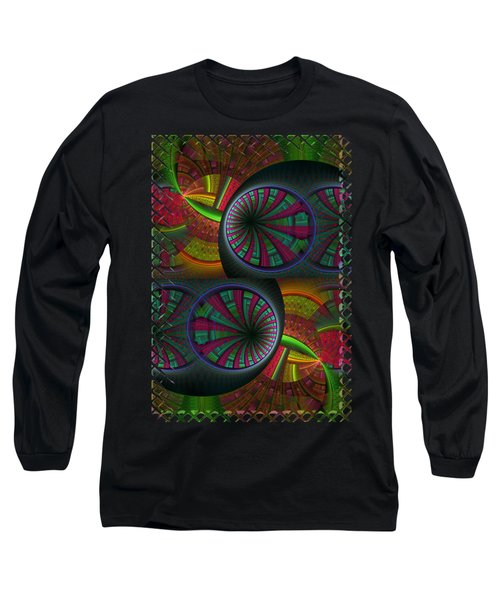 Tunneling Abstract Fractal Long Sleeve T-Shirt by Sharon and Renee Lozen