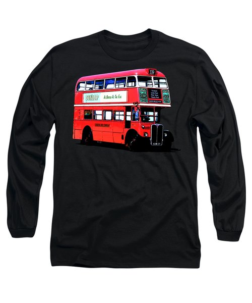 Vintage London Bus Tee Long Sleeve T-Shirt by Edward Fielding