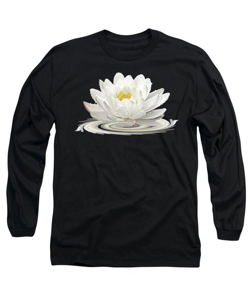 Water Lily Whirl Long Sleeve T-Shirt by Gill Billington