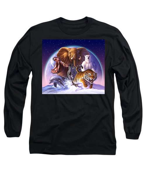 Wild World Long Sleeve T-Shirt by Jerry LoFaro