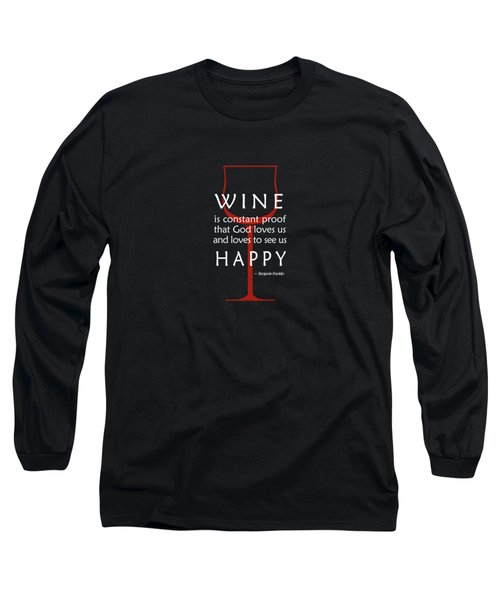 Wine Glasses 2 Long Sleeve T-Shirt by Mark Rogan