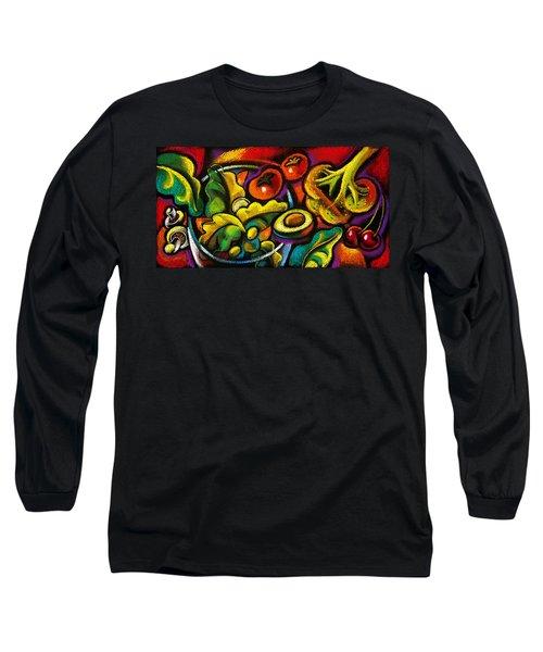 Yammy Salad Long Sleeve T-Shirt by Leon Zernitsky