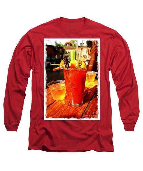 Morning Bloody Long Sleeve T-Shirt by Perry Webster