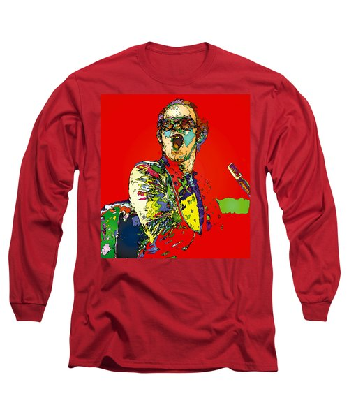 Elton In Red Long Sleeve T-Shirt by John Farr
