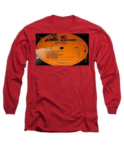 Harvest - Neil Young Side 1 Long Sleeve T-Shirt by Marcello Cicchini