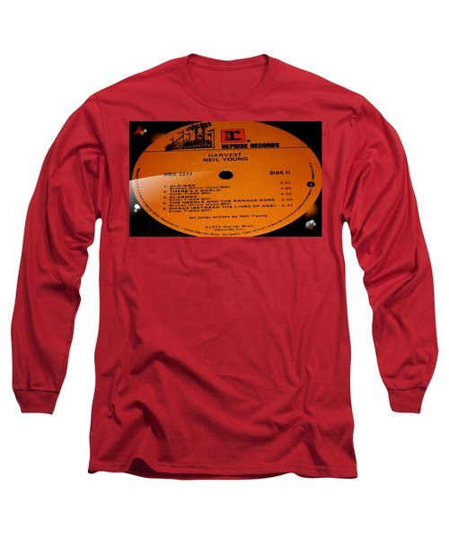 Harvest Neil Young Side 2 Long Sleeve T-Shirt by Marcello Cicchini