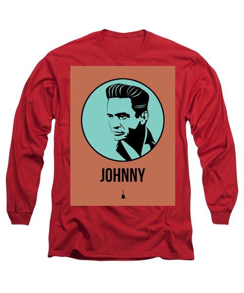 Johnny Poster 1 Long Sleeve T-Shirt by Naxart Studio
