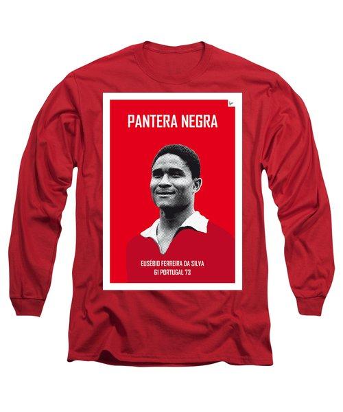 My Eusebio Soccer Legend Poster Long Sleeve T-Shirt by Chungkong Art