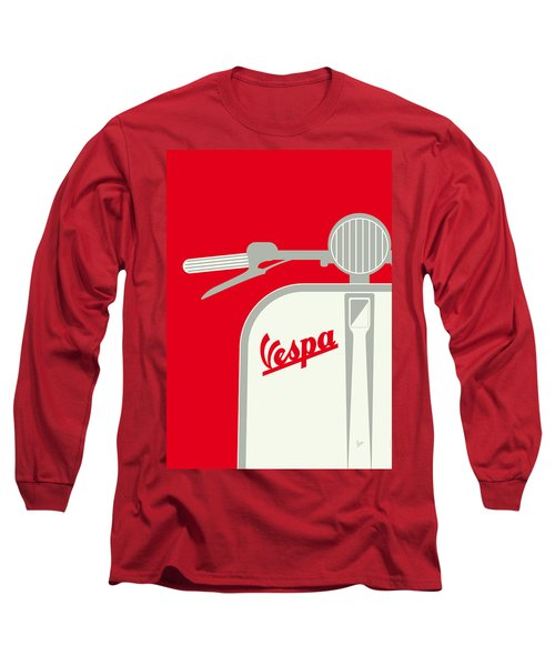 My Vespa - From Italy With Love - Red Long Sleeve T-Shirt by Chungkong Art