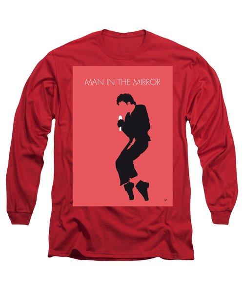 No032 My Michael Jackson Minimal Music Poster Long Sleeve T-Shirt by Chungkong Art