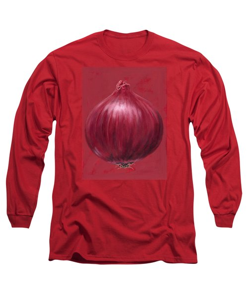 Red Onion Long Sleeve T-Shirt by Brian James