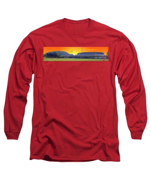 The Old And New Yankee Stadiums Side By Side At Sunset Long Sleeve T-Shirt by Nishanth Gopinathan