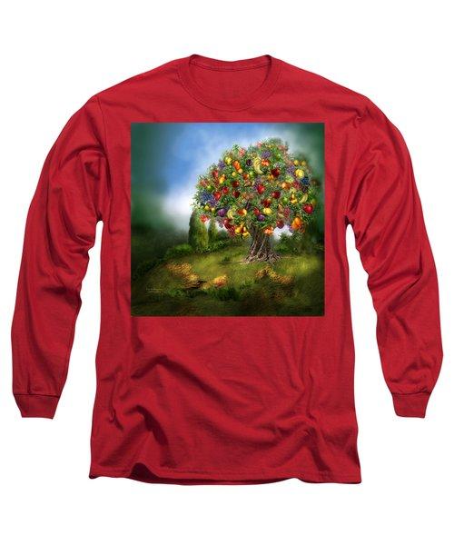 Tree Of Abundance Long Sleeve T-Shirt by Carol Cavalaris