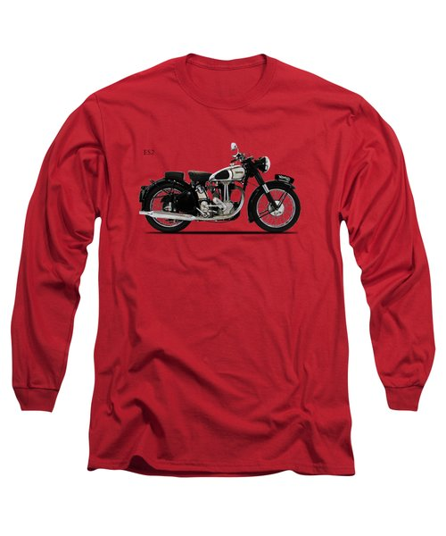 Norton Es2 1947 Long Sleeve T-Shirt by Mark Rogan