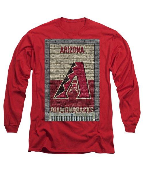 Arizona Diamondbacks Brick Wall Long Sleeve T-Shirt by Joe Hamilton