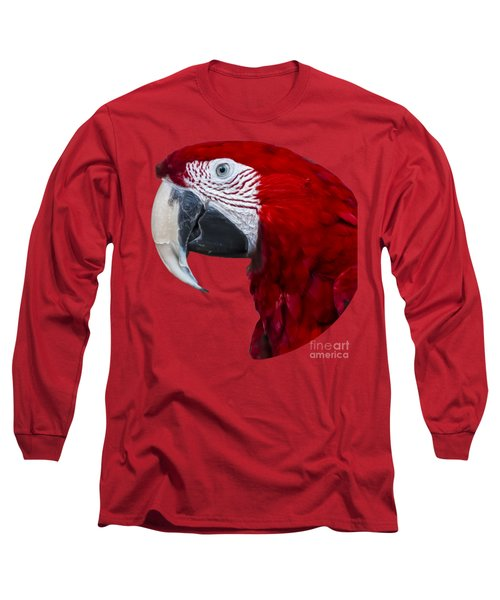 Red Macaw Long Sleeve T-Shirt by Mark Myhaver