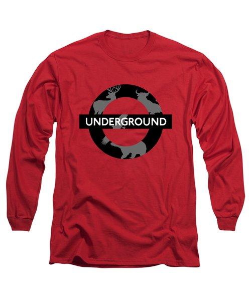 Underground Long Sleeve T-Shirt by Alberto RuiZ