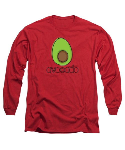Avocado Long Sleeve T-Shirt by Monette Pangan