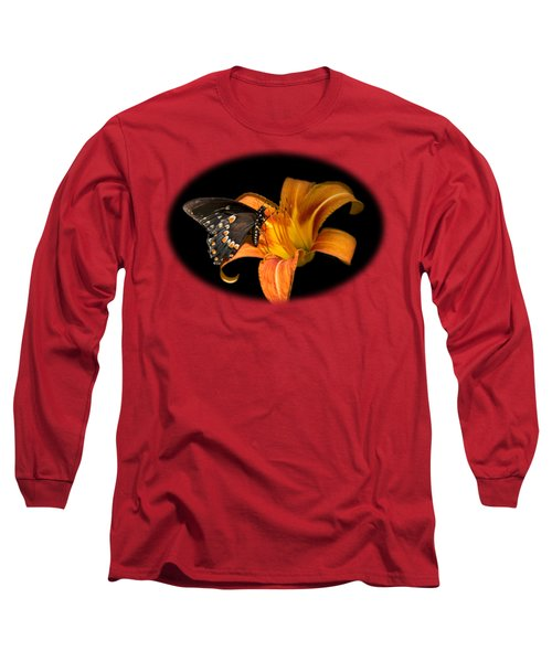 Black Beauty Butterfly Long Sleeve T-Shirt by Christina Rollo