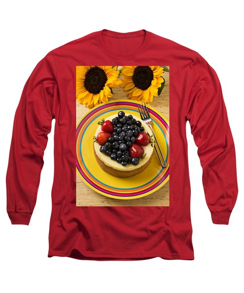 Cheesecake With Fruit Long Sleeve T-Shirt by Garry Gay
