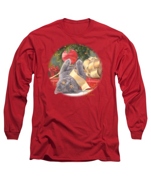 Christmas Surprise Long Sleeve T-Shirt by Lucie Bilodeau