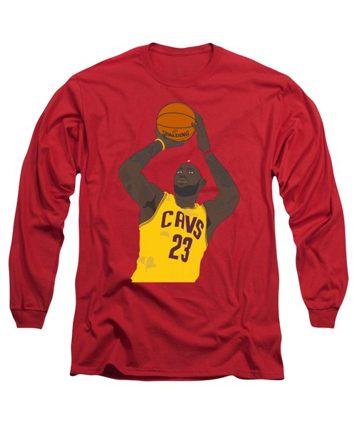 Cleveland Cavaliers - Lebron James - 2014 Long Sleeve T-Shirt by Troy Arthur Graphics
